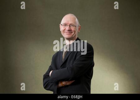 Edinburgh, Scotland, UK. 18th August 2014.  James Robertson, Scottish author, at the Edinburgh International Book - Stock Photo