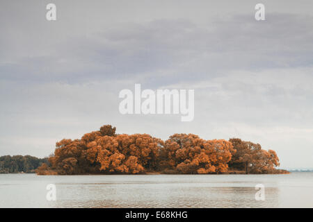 Islands in the autumn - Stock Photo