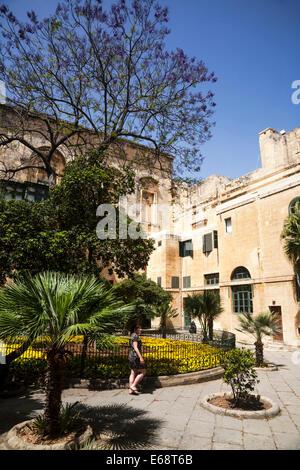 The Grandmaster's Palace courtyard, Valletta, Malta - Stock Photo