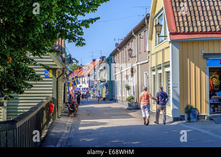 Sigtuna - the oldest town in Sweden - Stock Photo