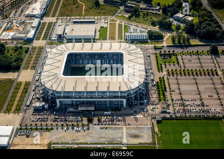Aerial view, Borussia-Park, football stadium, Mönchengladbach, North Rhine-Westphalia, Germany - Stock Photo