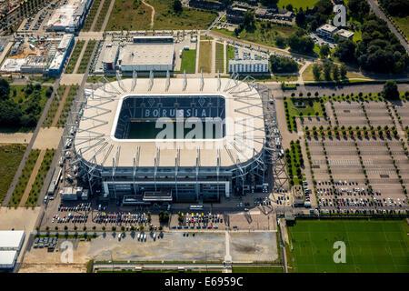 Aerial view, Borussia-Park, football stadium, Mönchengladbach, North Rhine-Westphalia, Germany - Stock Photo