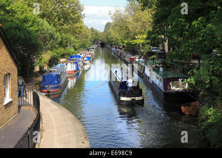 Regents Canal at 'Little Venice' in London - Stock Photo