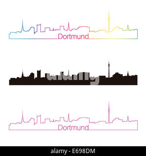 Dortmund skyline linear style - Stock Photo