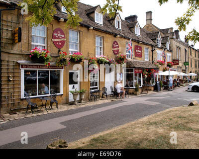 The Old Stocks Hotel, Stow-on-the-Wold, Gloucestershire, UK - Stock Photo