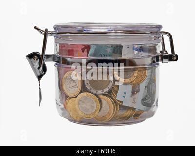 money,save,home finances - Stock Photo
