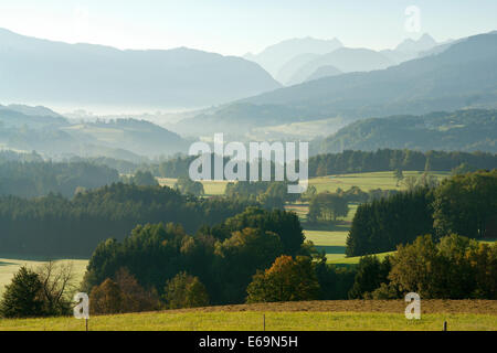 landscape,bavaria,upper bavaria,chiemgau,high mountain - Stock Photo