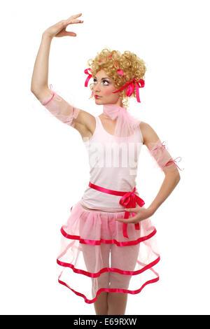 young woman,woman,pose,ballet dancer,dancer - Stock Photo