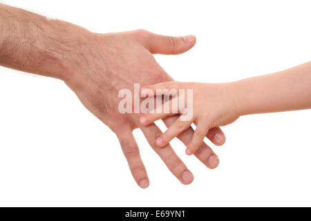 security,protection,hand in hand - Stock Photo