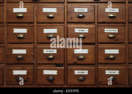 drawer,cabinet,herbal cabinet - Stock Photo