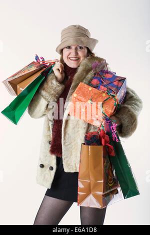 woman,purchase,shopping,gift - Stock Photo