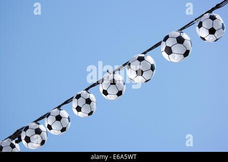 soccer,fan article,christmas lights - Stock Photo