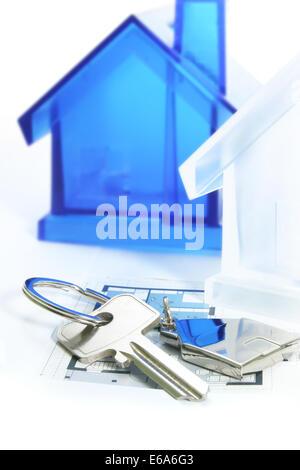 house,property,building construction,house key - Stock Photo