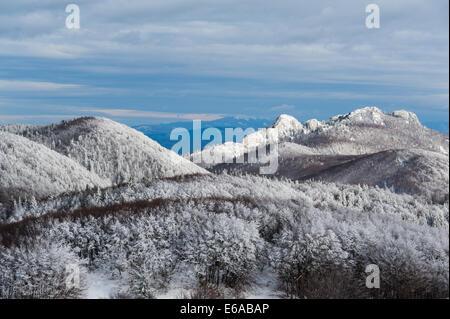 Winter atmosphere in Northern Velebit National park, Croatia. - Stock Photo