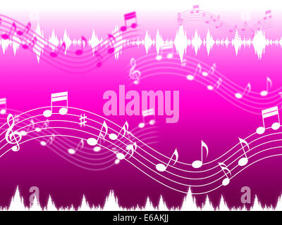 Pink Music Background Showing Rap Rock Or RandB - Stock Photo
