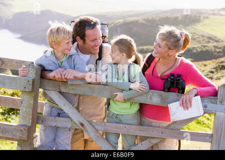 family,hiking,family outing - Stock Photo