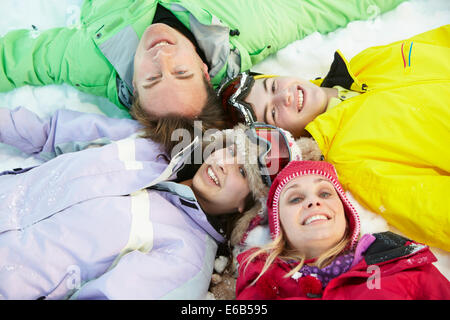 family,ski vacation,skiers - Stock Photo