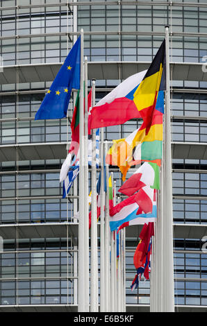europe,flag,national flag,european community,european parliament - Stock Photo
