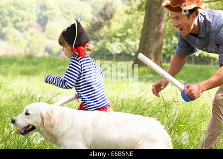 father,playing,cladding,son - Stock Photo