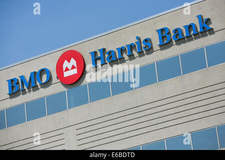 An office building occupied by BMO Harris Bank in Naperville, Illinois. - Stock Photo