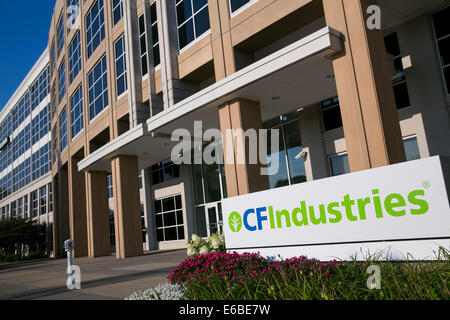 The headquarters of  CF Industries Holdings, Inc., in Deerfield, Illinois. - Stock Photo