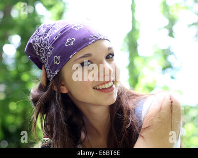 teenager,girl,smiling,enjoyment,relaxation,cheerful - Stock Photo