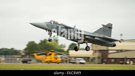 Swedish Air Force Saab JAS 39C Gripen at the Royal International Air Tattoo - Stock Photo