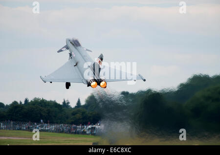 Eurofighter Typhoon FGR4 at the Royal International Air Tattoo - Stock Photo