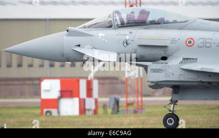 Italian Air Force Eurofighter F-2000A Typhoon at RIAT 2014 - Stock Photo