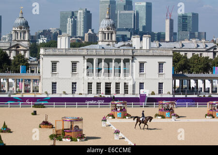 Equestrian Individual Dressage competition in Greenwich Park, at the London Paralympic Games in 2012 - Stock Photo