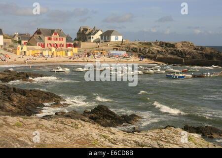 Beach at Batz-sur-Mer near La Baule, Brittany, France - Stock Photo