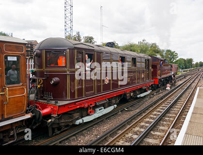 Steam on the Metropolitan line 16 August 2014 from Rickmansworth to Chesham with L150 pulling train through Chalfont - Stock Photo