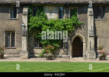 Old Court, Corpus Christi College, Cambridge, UK - Stock Photo