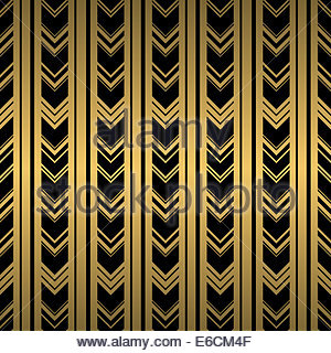Repeating Line Black And Gold Seamless Background Repeat Patterned Wallpaper Design