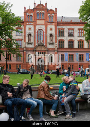 University in Rostock, Mecklenburg-Hither-Pomerania, Germany, Europe - Stock Photo