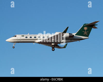 Gulfstream IV business jet used by the Saudi Arabian government in an official VIP transport role - Stock Photo