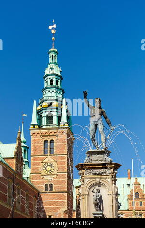 Neptune Fountain at Frederiksborg Palace, Denmark - Stock Photo