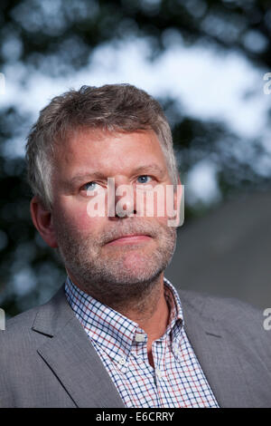 Edinburgh, Scotland, UK. 20th Aug, 2014. Arne Dahl, Swedish author of crime fiction, at the Edinburgh International - Stock Photo