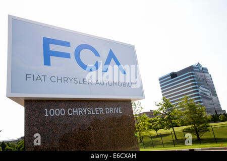 The headquarters of Chrysler Group LLC in Auburn Hills, Michigan. - Stock Photo