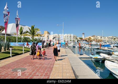 Promenade, marina, Cabo San Lucas, Baja California Sur, Mexico - Stock Photo