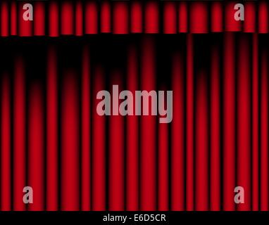 Editable vector illustration of a red curtain - Stock Photo