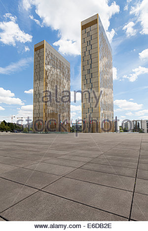 Luxembourg, Luxembourg City, European Quarter, office towers of European Court of Justice - Stock Photo