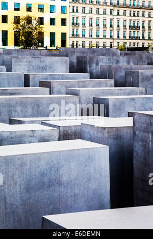 Memorial to the Murdered Jews of Europe or Holocaust Memorial by architect Peter Eisenman and engineer Buro Happold - Stock Photo