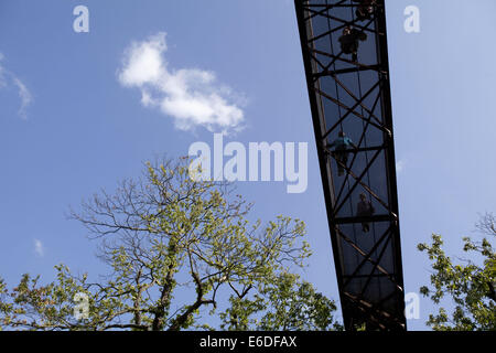 London, UK. 13th Aug, 2014. Kew Gardens - Treetop Walkway.Treetop Walkway opened on International Biodiversity Day, - Stock Photo