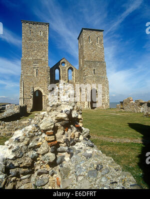 St Mary's church Reculver Kent UK - Stock Photo