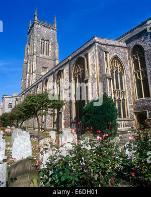 St Peter and St Paul's Church Norfolk UK - Stock Photo