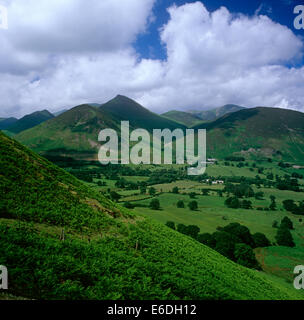 Causey Pike from Catbells Cumbria UK - Stock Photo