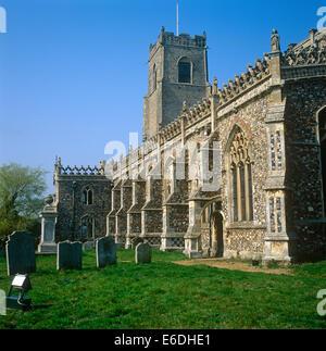 Church of Holy Trinity Suffolk - Stock Photo