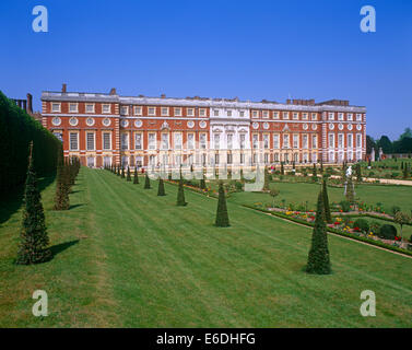 Privy Garden Hampton Court Palace Surrey UK - Stock Photo