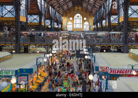 Interior of the central market in Budapest - Stock Photo